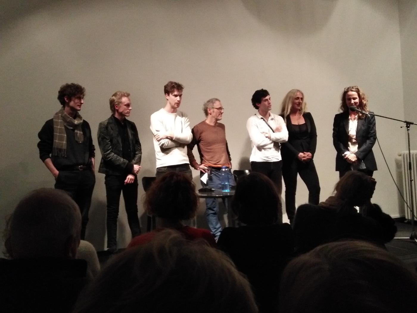 Premiere im Literaturhaus Berlin mit Sabine Lidl (rechts) und Aaron Altaras (dritter von rechts)